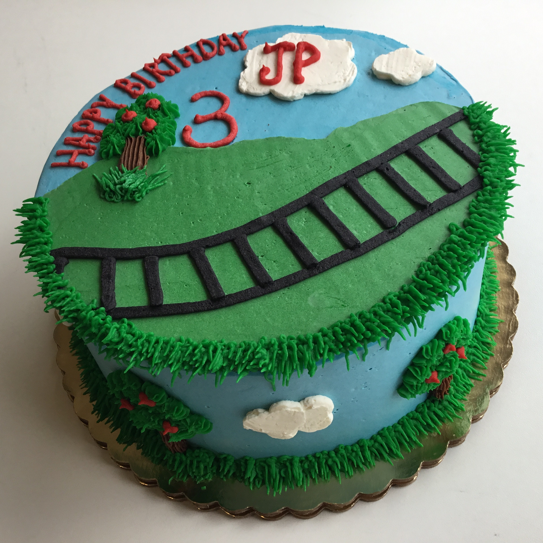 train track cake pic