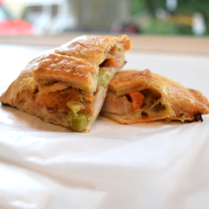 chicken black bean potato veggie empanada